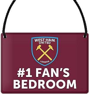 West Ham United FC Official Number 1 Fan Soccer Crest Bedroom Sign