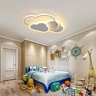 SENQIU Plafonnier Nuage,32w Lampe de Plafond LED Créatif avec Dimmable Télécommande 3000-6500k 2800lm L42*H6cm, éclairage ...