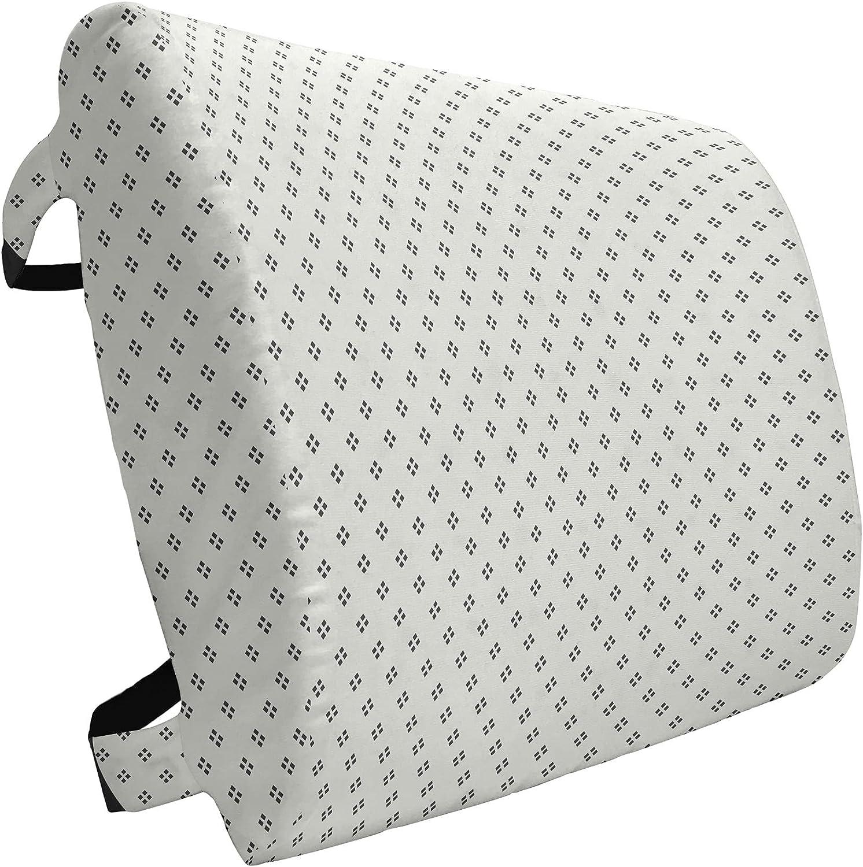 Online limited product Ambesonne Geometric Lumbar Pillow Pale Washington Mall Modern Grey Geo Backdrop