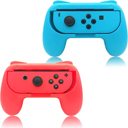 Grips for Nintendo Switch Joy-Con,FYOUNG Controllers for Nintendo Switch Joy Con - Blue and Red (2 Packs)
