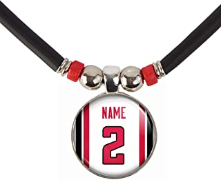 Customized and Personalized Atlanta Football Jersey Style Necklace with Any Name and Number, By SpotlightJewels