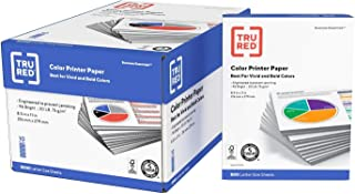 "$61 » TRU RED Printer Paper - 8.5"" x 11"" Multipurpose Paper, 20 lbs, 5,000 Sheets of 96 Bright Paper - FSC Standard, Acid-Free P..."