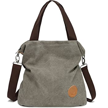 Myhozee Crossbody Cloth Purses Women Casual Canvas Bag Satchel Travel Handbags