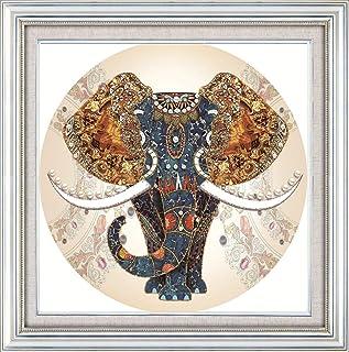 KAMIERFA DIY Kit Broderie Point De Croix,11CT Cross Stitch Embroidery Starter Kit,Kit de Couture à la Main pour Adultes-Él...