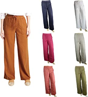 Ex M/&S Per Una Women/'s Straight Leg Fit Natural Striped Trousers Pants Size 8-24