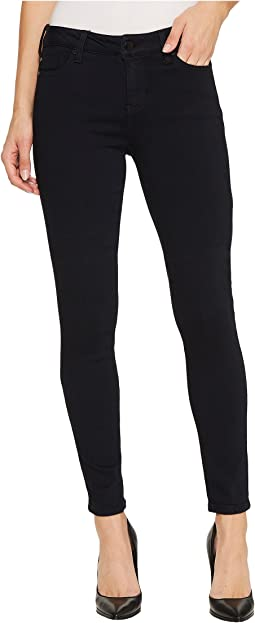 Abby Skinny Jeans in Soft Silky Denim in Indigo Overdye Black