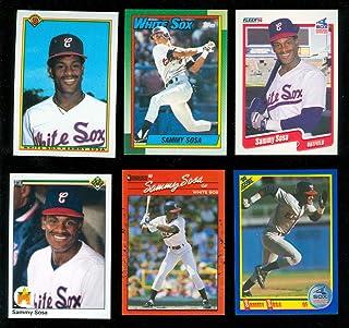 1b02e06440 6 1990 Topps Upper Deck Fleer Score Bowman Donruss Sammy Sosa Rookie Card Lot  RC