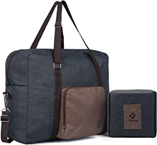 For Airlines Foldable Travel Duffle Bag Tote Carry on Luggage by Narwey