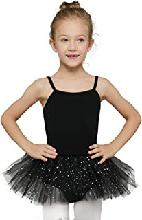 MdnMd Ballerina Outfits Toddler Girls Ballet Tutu Leotard Dance Glitter Camisole Skirted Ballerina Dress