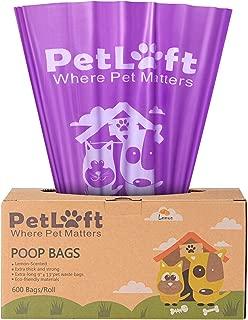 PETLOFT Poop Bags for Dogs, Durable EPI Biodegradable Environment-Friendly Dog Waste Bag, Dog Poop Bag in Tissue Dispensing Format - Purple
