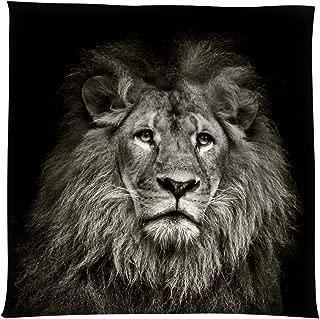 MelkTemn Tapestry Wall Hanging Black and White Lion Tapestry, Animal Lion Dorm Decor for Living Room Bedroom