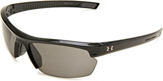 Under Armour Stride XL Sunglasses Oval, Black/Gray Lens, one size