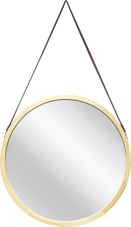 Max 64% OFF Infinity Instruments 5 popular Pinewood 18 inch Circle Decorative Mir Wall
