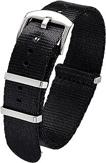 PBCODE Watch Straps Seat Belt Nylon NATO Strap 18mm 20mm 22mm 24mm Heavy Duty Military Watch Band