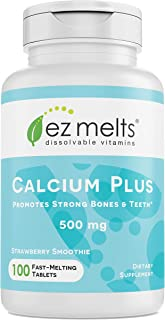 Sponsored Ad - EZ Melts Calcium Plus with Vegan D3 and Magnesium, 500 mg, Sublingual Vitamins, Vegan, Zero Sugar, Natural ...