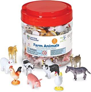 Learning Resources Farm Animal Counters, 10 Different Animals, Set of 60, Ages 3+,Multi-color