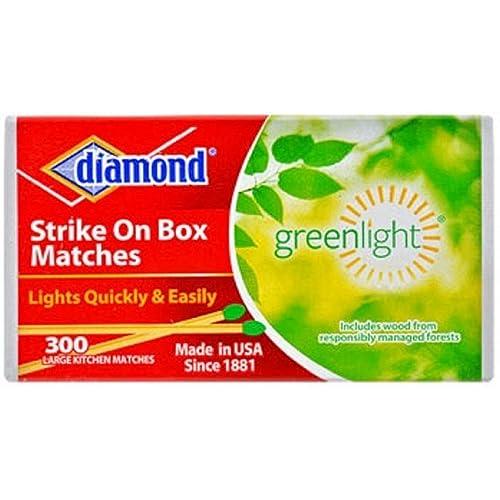 Amazon com: Diamond Strike on Box Greenlight Matches, 300