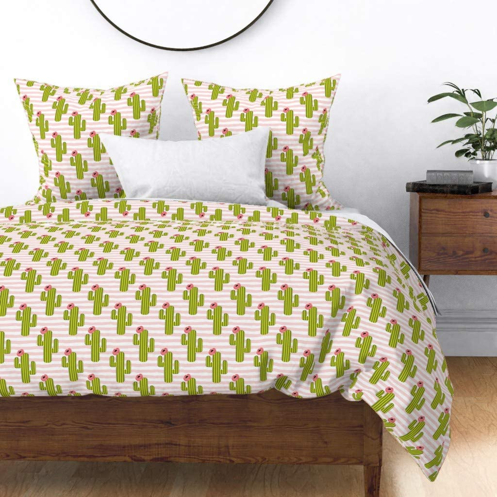 Roostery Brand new Duvet Cover Flowers Floral Cactus Gi Mexican Baby New item Boho