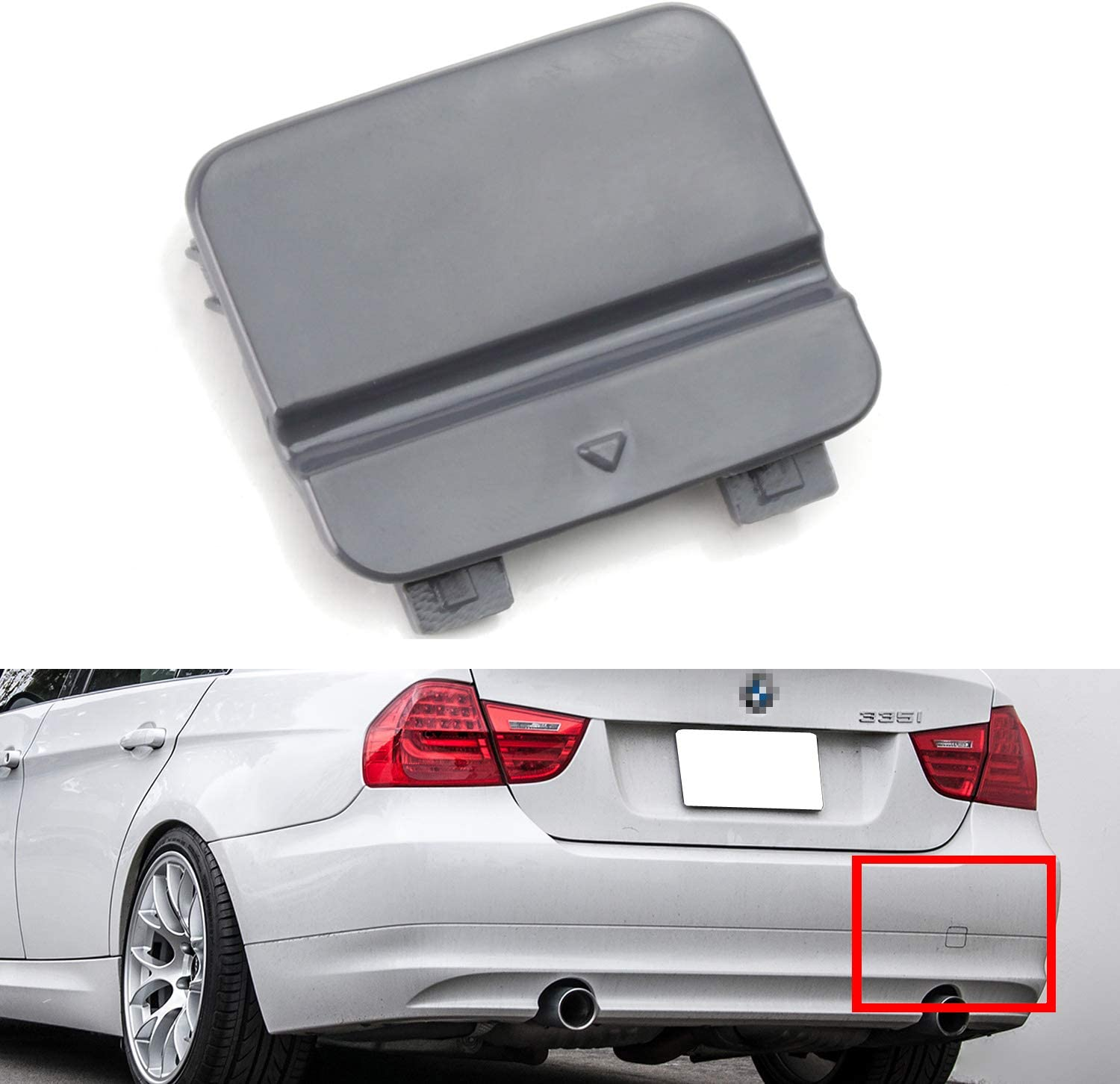 iJDMTOY Rear Bumper Tow Hook Compatible Wi Cover Cap Elegant Same day shipping Replacement