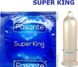 10 Pasante Condoms, Super King Size, 69 mm (2.7 inches) Widest XL -XXL Male Condom on The Market
