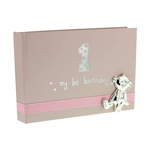 Ukgiftstoreonline Baby Girl First Birthday Photo Album With Teddy Icon 6x4 Gift