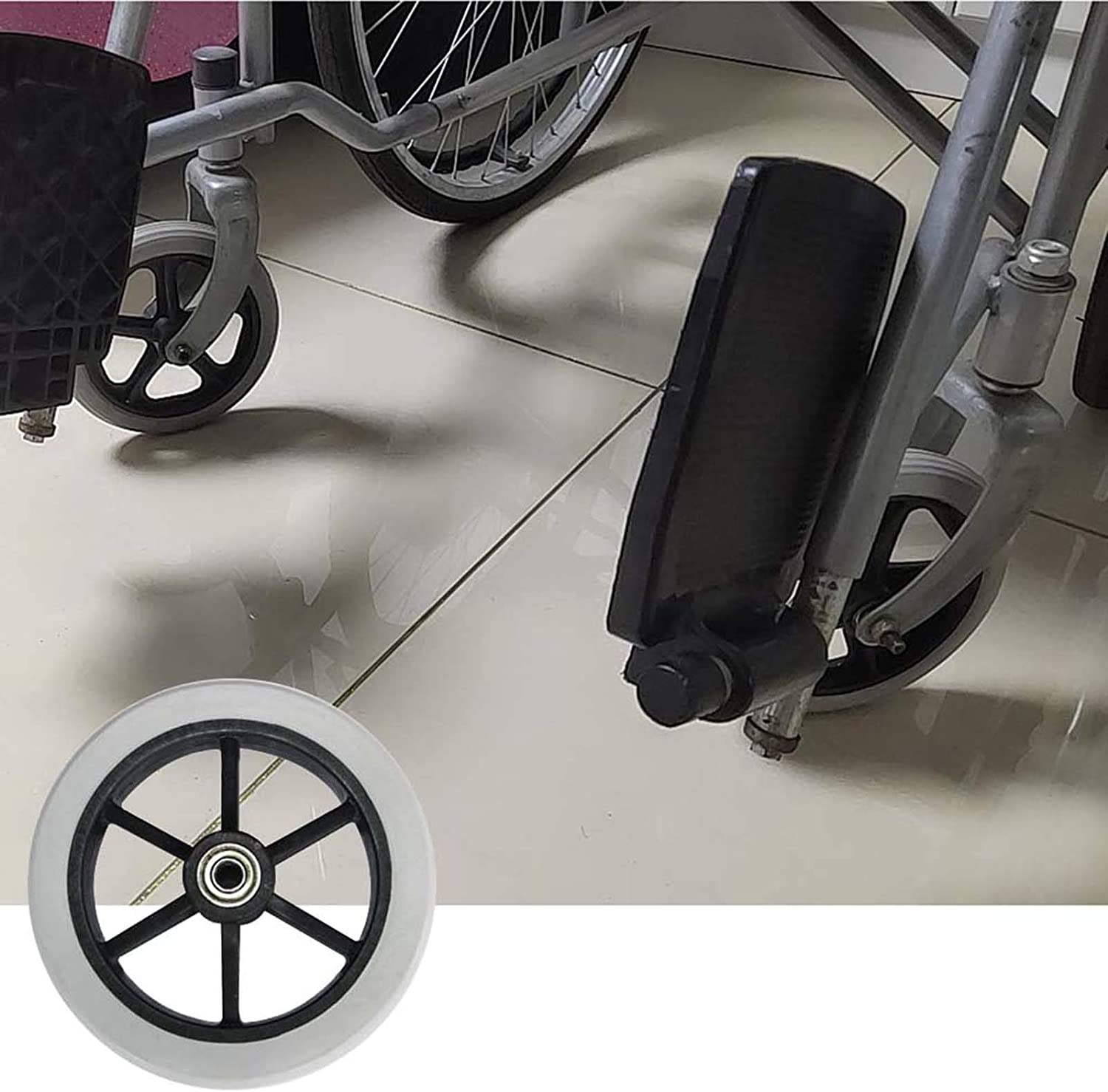1 Pair Wheelchair Front Casters Wheels 8 7 W half Mail order cheap Inch 6 Replacement
