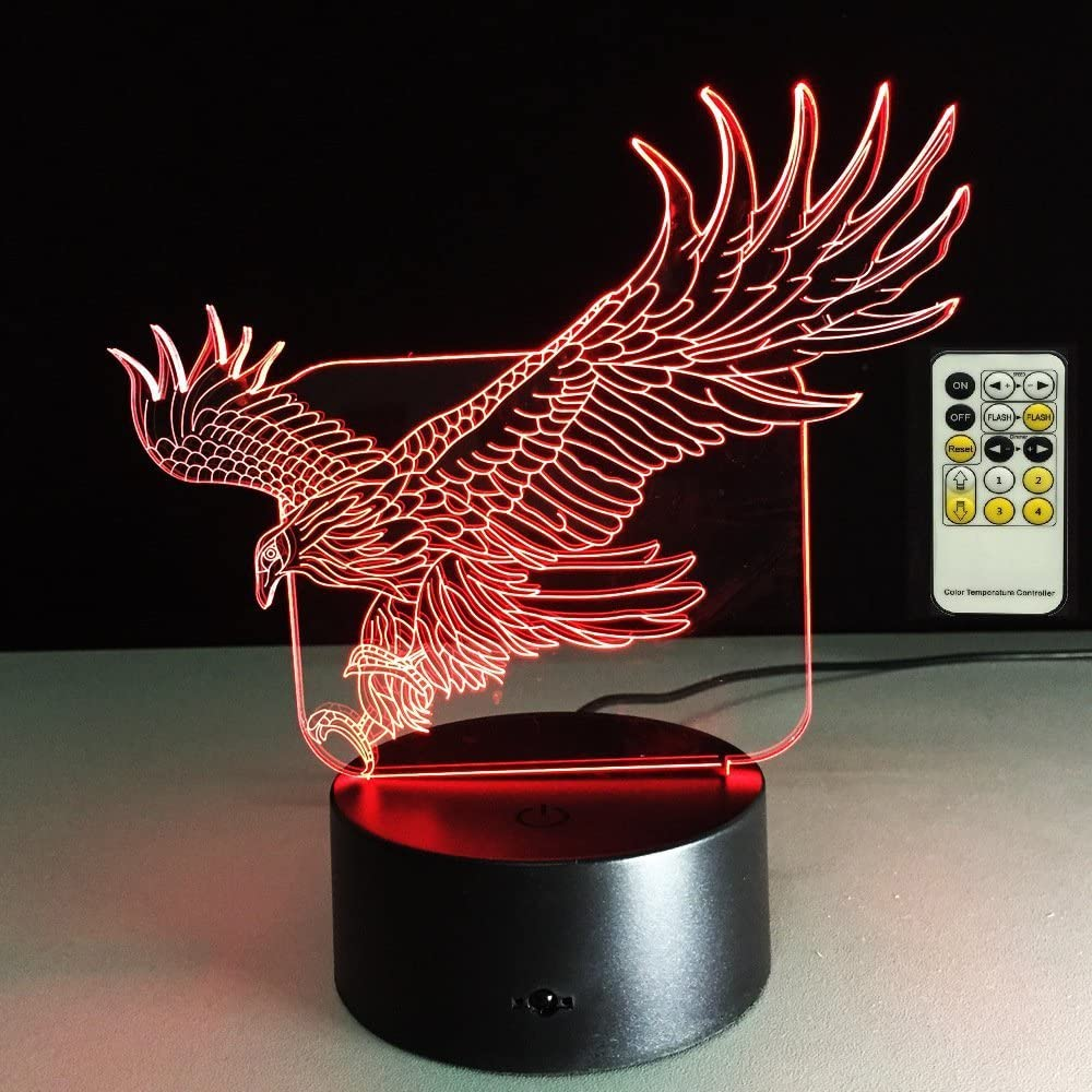 ATD Today's only 3D Al sold out. Optical Illusion Eagle 7 Remote Color 15 LE Changing Keys