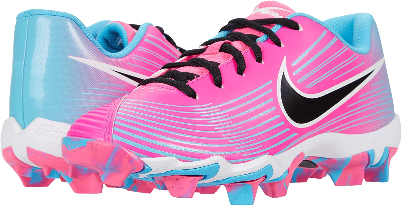 Nike Kids Hyperdiamond 3 Keystone (Toddler/Little Kid/Big Kid) Pink Blast/Black/Baltic Blue/White 5 Big Kid M
