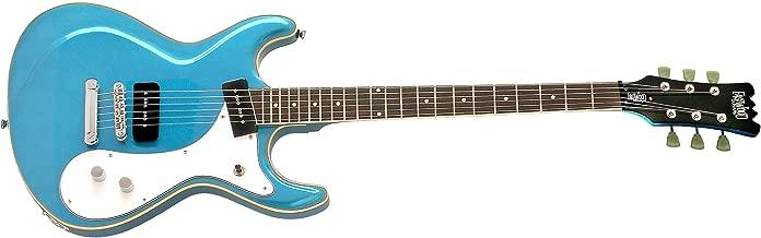Eastwood Sidejack Baritone STD Guitar - Metallic Blue