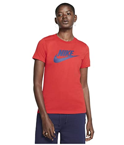 Nike Sportswear Tee Essential Icon Futura (University Red/Binary Blue) Women
