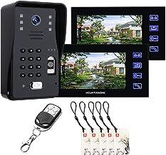 7 Inch Video Deurbel, Vingerafdruk Wachtwoord RFID Video Deurtelefoon Home Surveillance, Intercom, Nachtzicht Bewakingscam...