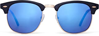 Retro Semi Rimless Browline Sunglasses Half Frame Eyeglasses for Women Men