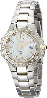 Seiko Women's SXDB60 Coutura Two-Tone White Mother Of Pearl Dial 24 Diamonds Watch
