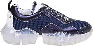 JIMMY CHOO Luxury Fashion Mens DIAMONDMXTMBRITBLUE Blue Sneakers   Fall Winter 19