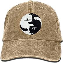 Presock Gorras De Béisbol Vintage Adult Sport Baseball Cap Gossip Map Cat Adjustable Denim Cowboy Hat For Men Women