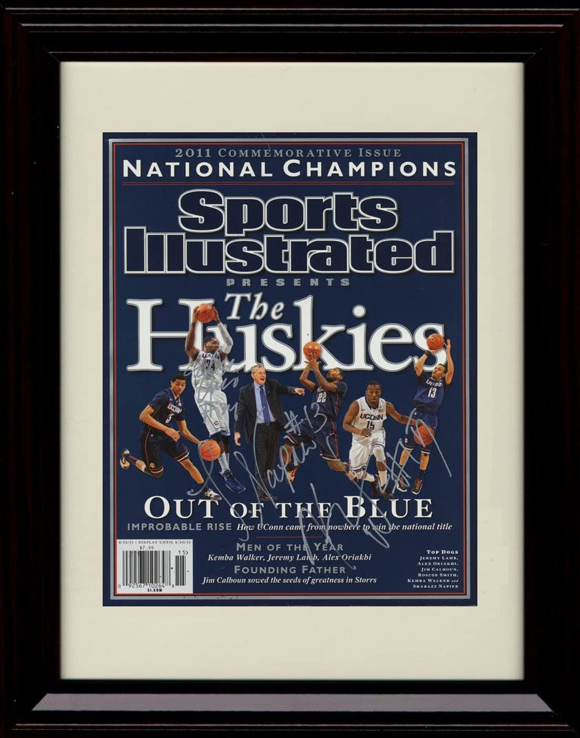 Framed UCONN Huskies Sports Replica Autograph Print Free shipping on Fashion posting reviews Illustrated