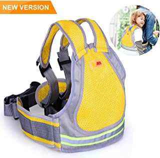 Jolik Child Motorcycle Safety Harness with 4-in-1 Buckle, Breathable Material in Yellow