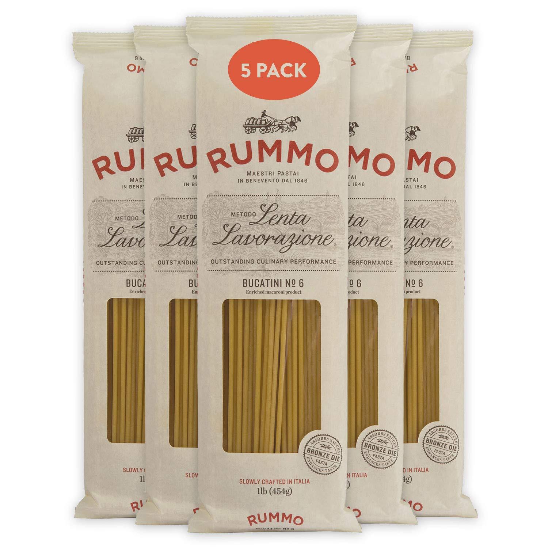Rummo Kansas City Mall Italian Pasta Bucatini Free shipping on posting reviews No.6 5-Pack Always Al Dente