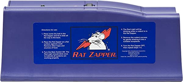 Agri Zap FBA RZC001 4 Zapper RZC001 4 Classic Rat Trap 1 Pack Purple