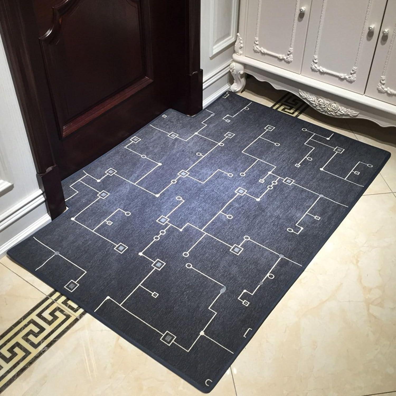 Carpet Door mats Foot pad Non-Slip Living Room Bedroom Home-D 80x120cm(31x47inch)
