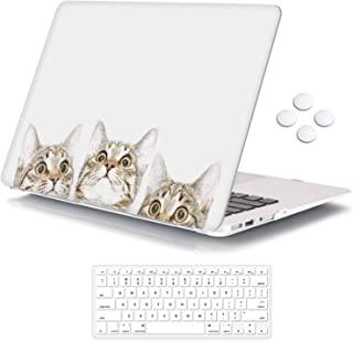 iCasso Plastic Pattern Hard Shell & Keyboard Cover Compatible MacBook 12 Inch Retina Display (Model : A1534), Cat