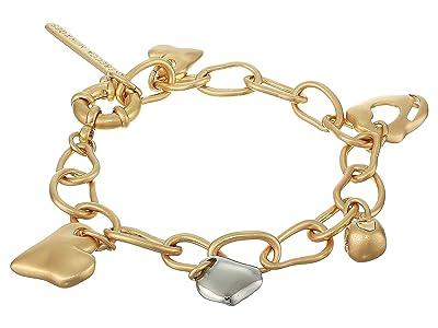 Rebecca Minkoff Organic Metal Charm Bracelet (Gold/Silver) Bracelet