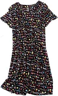 eacc10dc15 PNAEONG Women s Nightgowns Short Sleeves Cotton Sleepwear Print Sleep Shirt