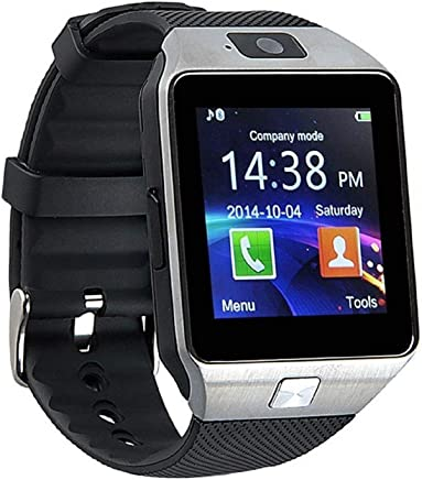 NALMAK DZ09 Bluetooth Smartwatch with SIM Card Support, Health, Sedentary Remind and Sleep Monitoring and Microphone (Colour May Vary)