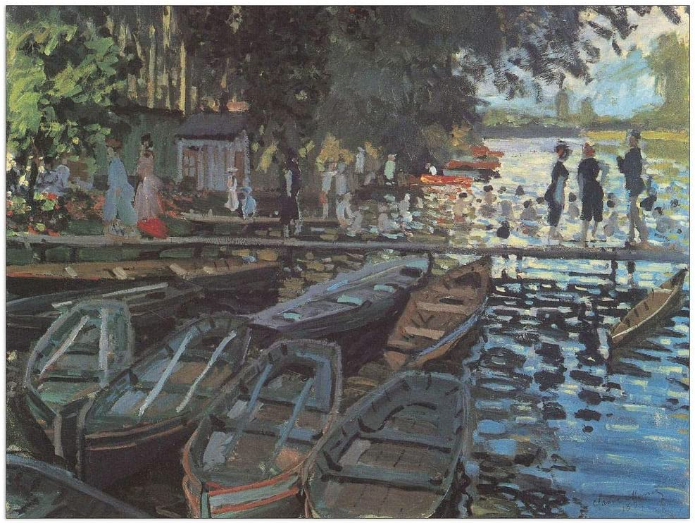 ArtPlaza Monet discount Claude-Bathers at GrenoullieÌre Max 48% OFF Decorative La Pan