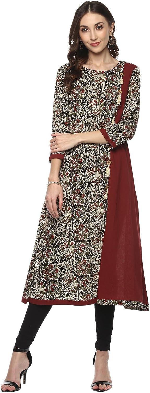 Yash Gallery Indian Tunic NEW before selling Tops discount Print Cotton Women's Kalamkari A-