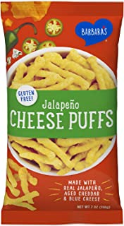 Barbara's Jalapeño Cheese Puffs, Gluten Free, Real Aged Cheese, 7 Oz Bag