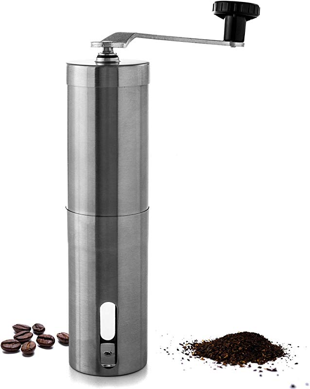 Biltek HOM 005 Coffee Stainless Steel Manual Adjustable Conical Ceramic Burr Grinder For Precision Brewing Every Time