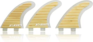Acavati – Performance Fin Set. Carbon Fiber or Bamboo Surfboard Fin Set – 3 Piece Surf Fin Set