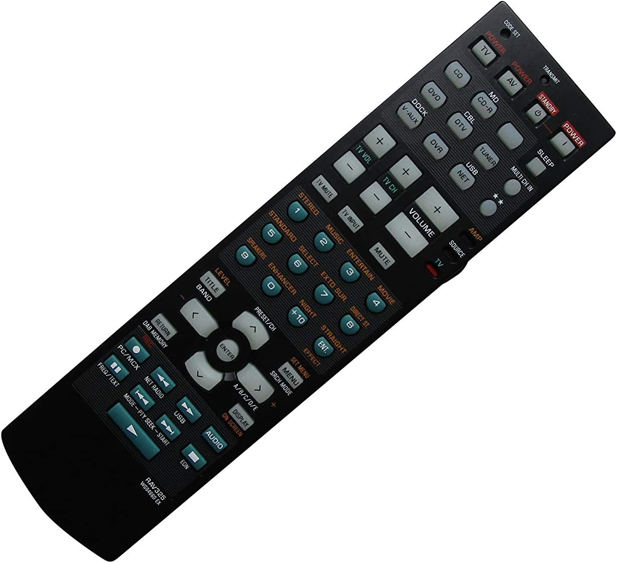 Washington Mall Remote Control safety for Yamaha RAV250 WC552800 RX-V HTR-5750 HTR-5740